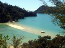 Παραλία στο εθνικό πάρκο του Abel Tasman, Νέα Ζηλανδία Στοκ Φωτογραφία