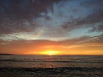 Παραλία στο ηλιοβασίλεμα Στοκ εικόνα με δικαίωμα ελεύθερης χρήσης