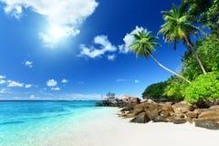 Παραλία στο νησί Mahe, Σεϋχέλλες Στοκ Εικόνες