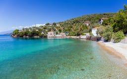 Παραλία στο χωριό Milina, Pelio, Ελλάδα Στοκ φωτογραφία με δικαίωμα ελεύθερης χρήσης