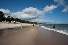 Παραλία στο awowo WÅ 'adysÅ ' Στοκ Εικόνα
