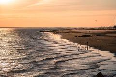 Παραλία στο Coney Island, Μπρούκλιν Στοκ Εικόνα