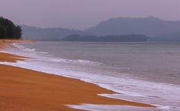 Παραλία Ταϊλάνδη της Mai Khao Στοκ Φωτογραφία