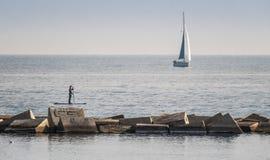 παραλία της Βαρκελώνης Στοκ Φωτογραφία