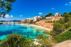 Παραλία της Ισπανίας Majorca των πυλών Nous Puerto Στοκ Φωτογραφίες