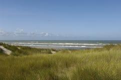 Παραλία της κηλίδας ηλίου LE Touquet Παρίσι στο Nord-Pas-de-Calais Στοκ εικόνες με δικαίωμα ελεύθερης χρήσης