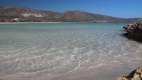 Παραλία της Κρήτης απόθεμα βίντεο