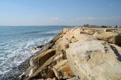 Παραλία της Κύπρου το χειμώνα Στοκ φωτογραφία με δικαίωμα ελεύθερης χρήσης