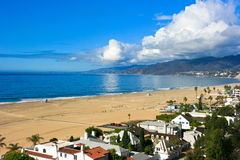 Παραλία της Σάντα Μόνικα, Καλιφόρνια Στοκ Εικόνα