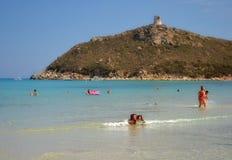Παραλία της Σαρδηνίας, Ιταλία Στοκ φωτογραφίες με δικαίωμα ελεύθερης χρήσης