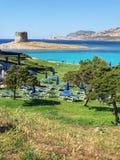 Παραλία της Σαρδηνίας, Pelosa Stintino Στοκ Φωτογραφίες