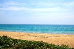Παραλία της Mai Khao στο νησί Phuket Στοκ Εικόνες