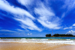 Παραλία της Mai Khao, Phuket, Ταϊλάνδη Στοκ Εικόνα