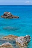 Παραλία της Petra Megali, Λευκάδα, Επτάνησα Στοκ φωτογραφίες με δικαίωμα ελεύθερης χρήσης
