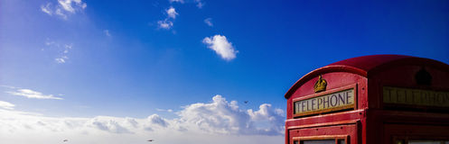 Παραλία τηλεφωνικών κιβωτίων GPO Στοκ Φωτογραφίες