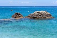 Παραλία του Άγιου Νικήτας, Λευκάδα, Επτάνησα Στοκ εικόνες με δικαίωμα ελεύθερης χρήσης