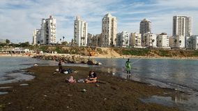 Παραλία του Ισραήλ Στοκ Εικόνες
