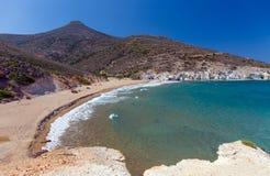 Παραλία του Ιωάννη επιβαρύνσεων, νησί της Μήλου, Ελλάδα Στοκ εικόνες με δικαίωμα ελεύθερης χρήσης