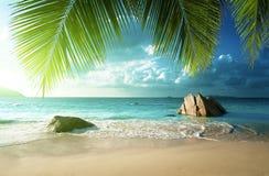 Παραλία του Λάτσιο Anse, νησί Praslin Στοκ φωτογραφίες με δικαίωμα ελεύθερης χρήσης