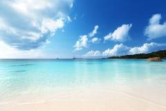 Παραλία του Λάτσιο Anse στο νησί Praslin Στοκ εικόνα με δικαίωμα ελεύθερης χρήσης