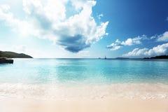 Παραλία του Λάτσιο Anse στο νησί Praslin Στοκ φωτογραφία με δικαίωμα ελεύθερης χρήσης