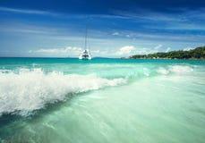 Παραλία του Λάτσιο Anse στο νησί Praslin Στοκ εικόνες με δικαίωμα ελεύθερης χρήσης