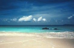 Παραλία του Λάτσιο Anse στο νησί Praslin Στοκ Φωτογραφία