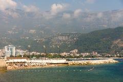 Παραλία του Μαυροβουνίου σε Budva Στοκ εικόνες με δικαίωμα ελεύθερης χρήσης