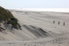 Παραλία του νησιού Ameland κοντά σε Hollum, Κάτω Χώρες Στοκ φωτογραφίες με δικαίωμα ελεύθερης χρήσης
