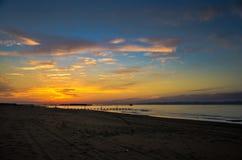 Παραλία του Νιγκάτα πορφυρή στοκ φωτογραφία