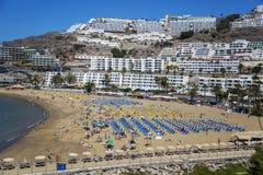 Παραλία του Πουέρτο Ρίκο σε θλγραν θλθαναρηα, Ισπανία Στοκ φωτογραφία με δικαίωμα ελεύθερης χρήσης