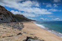 Παραλία του Πόρτο DAS Barcas σε Lourinha, Πορτογαλία στοκ φωτογραφία