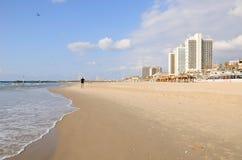 Παραλία του Τελ Αβίβ Στοκ Φωτογραφία