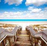 Παραλία του Destin στο κρατικό πάρκο της Φλώριδας AR Henderson Στοκ εικόνα με δικαίωμα ελεύθερης χρήσης