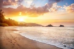 Παραλία του OM στην Ινδία Στοκ Εικόνα