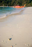 Παραλία το πρωί Koh Rok, Ταϊλάνδη Στοκ Φωτογραφία