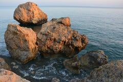 παραλία των βράχων στοκ εικόνες