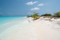 Παραλία των Μαλδίβες στοκ εικόνες με δικαίωμα ελεύθερης χρήσης