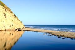 Παραλία υποζυγίων Arroyo - Santa Barbara, Καλιφόρνια Στοκ εικόνες με δικαίωμα ελεύθερης χρήσης