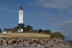 Παραλία φάρων και πετρών Στοκ Εικόνες