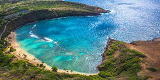 Παραλία Χαβάη Hanauma Στοκ φωτογραφίες με δικαίωμα ελεύθερης χρήσης