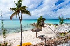 παραλία όμορφες Καραϊβικές Θάλασσες Στοκ εικόνα με δικαίωμα ελεύθερης χρήσης