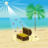 Παραλία. διανυσματική απεικόνιση