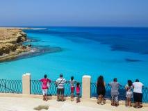 Παραλία Agiba σε Marsa Matruh Στοκ Φωτογραφία