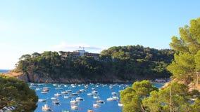 Παραλία Aiguablava Begur στο χωριό, Μεσόγειος, Catalon Στοκ φωτογραφία με δικαίωμα ελεύθερης χρήσης