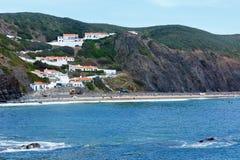 Παραλία Aljezur, Αλγκάρβε, Πορτογαλία Arrifana Στοκ Εικόνα