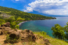 Παραλία Amed - νησί Ινδονησία του Μπαλί Στοκ εικόνα με δικαίωμα ελεύθερης χρήσης
