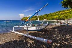 Παραλία Amed - νησί Ινδονησία του Μπαλί Στοκ Εικόνα