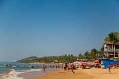 Παραλία Anjuna Στοκ Φωτογραφίες
