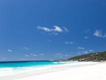 Παραλία Anse Λάτσιο με την άσπρη άμμο Στοκ εικόνες με δικαίωμα ελεύθερης χρήσης